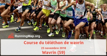 Course du téléthon de wavrin