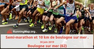 Semi-marathon et 10 km de boulogne sur mer.