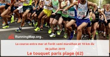 La course entre mer et forêt semi marathon et 10 km du