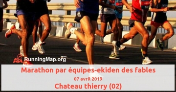Marathon par équipes-ekiden des fables